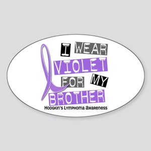 I Wear Violet 37 Hodgkin's Lymphoma Sticker (Oval)
