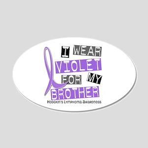 I Wear Violet 37 Hodgkin's Lymphoma 22x14 Oval Wal