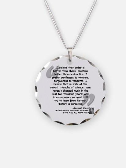 Clark Believe Quote Necklace
