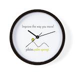 Pilates Palm Springs Wall Clock