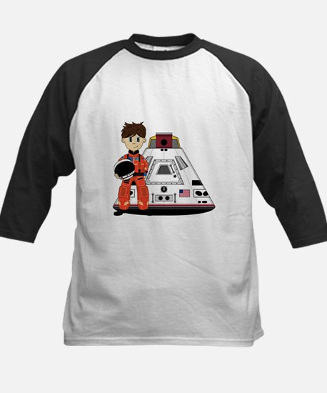 Spaceman and Space Capsule Kids Baseball Jersey