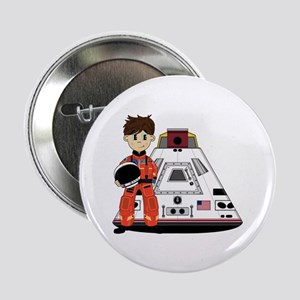 """Spaceman and Space Capsule 2.25"""" Button"""