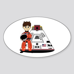 Spaceman and Space Capsule Sticker