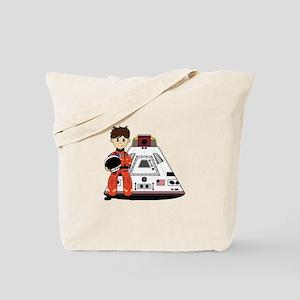 Spaceman and Space Capsule Tote Bag