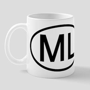 ML - Initial Oval Mug