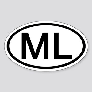 ML - Initial Oval Oval Sticker