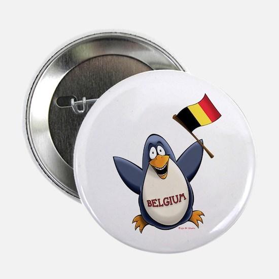 """Belgium Penguin 2.25"""" Button"""