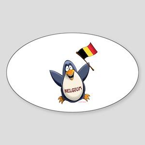 Belgium Penguin Sticker (Oval)