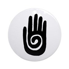 Hopi Hand Rock Painting Ornament (Round)