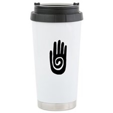Hopi Hand Rock Painting Stainless Steel Travel Mug