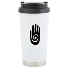 Hopi Hand Rock Painting Stainless Steel Travel Mug