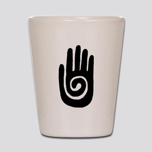 Hopi Hand Rock Painting Shot Glass