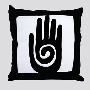 Hopi Hand Rock Painting Throw Pillow