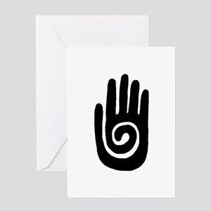 Hopi Hand Rock Painting Greeting Card