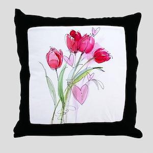 Tulip2 Throw Pillow