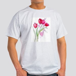 Tulip2 Ash Grey T-Shirt