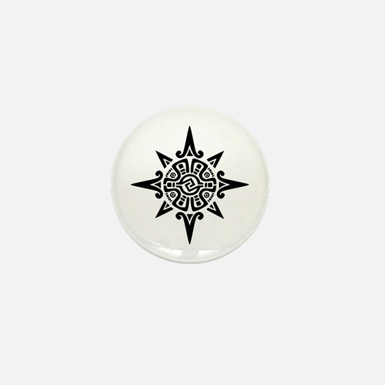 8-Point Incan Star Symbol Mini Button
