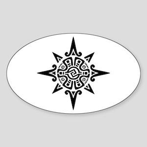 8-Point Incan Star Symbol Sticker (Oval)