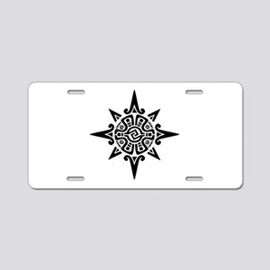 8-Point Incan Star Symbol Aluminum License Plate