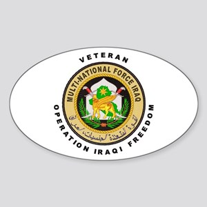 OIF Veteran Oval Sticker