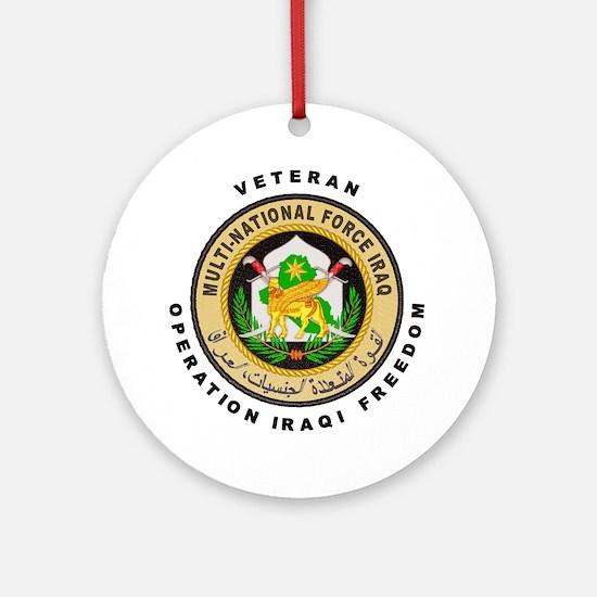 OIF Veteran Ornament (Round)
