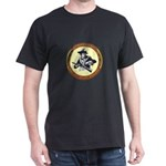 Illegals Minuteman Border Pat Black T-Shirt