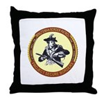Illegals Minuteman Border Pat Throw Pillow