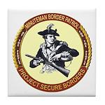 Illegals Minuteman Border Pat Tile Coaster