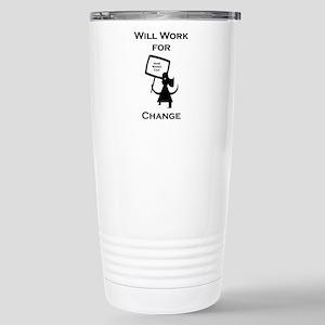 Work for Change Stainless Steel Travel Mug