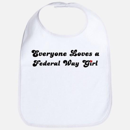 Loves Federal Way Girl Bib