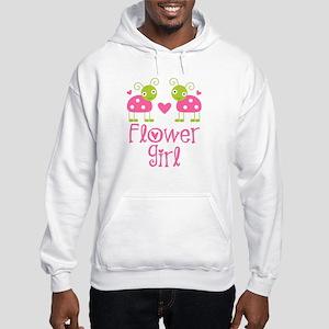 Flower Girl Ladybug Hooded Sweatshirt
