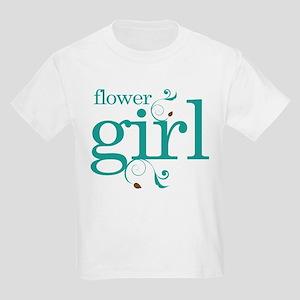Flower Girl Wedding Swirl Kids Light T-Shirt