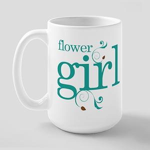 Flower Girl Wedding Swirl Large Mug