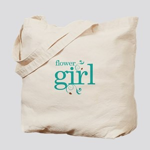 Flower Girl Wedding Swirl Tote Bag