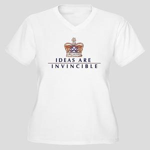 Ideas Are Invincible Women's Plus Size V-Neck T-Sh