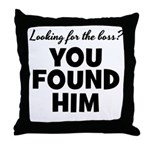 Husband Boss Throw Pillow
