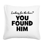 Husband Boss Square Canvas Pillow