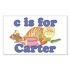 C is for Carter Sticker (Rectangle)