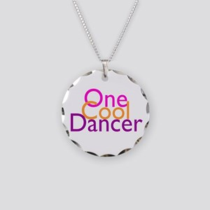 One Cool Dancer Necklace Circle Charm