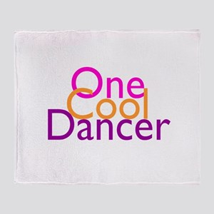 One Cool Dancer Throw Blanket