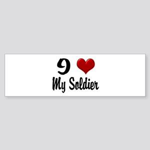Heart My Soldier Home/Office Sticker (Bumper)
