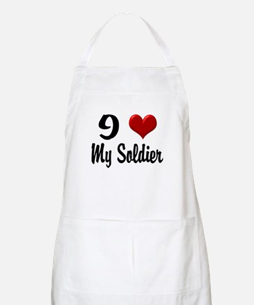 Heart My Soldier Home/Office Apron