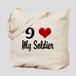 Heart My Soldier Home/Office Tote Bag