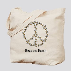 Bees on Earth (Peace) Tote Bag