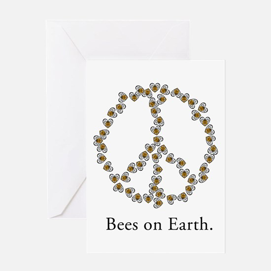 Bees on Earth (Peace) Greeting Card