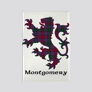 Lion - Montgomery Rectangle Magnet