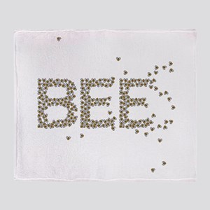 BEES (Made of bees) Throw Blanket