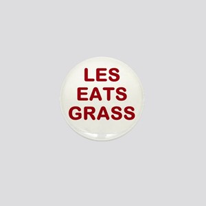 Les Eats Grass Mini Button