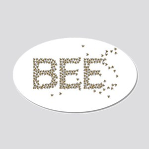 BEES (Made of bees) 22x14 Oval Wall Peel