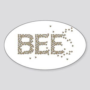 BEES (Made of bees) Sticker (Oval)